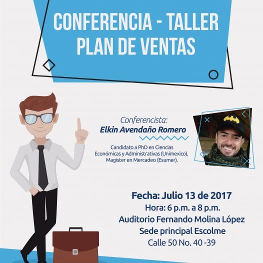 Estás invitado a la Conferencia Taller Plan de Ventas