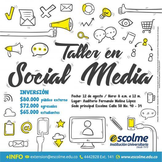 Participa en el Taller de Social Media