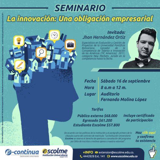 Seminario La Innovación: una obligación empresarial