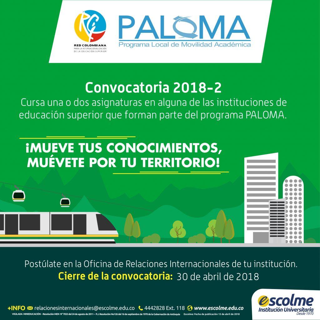 Convocatoria Paloma 2018