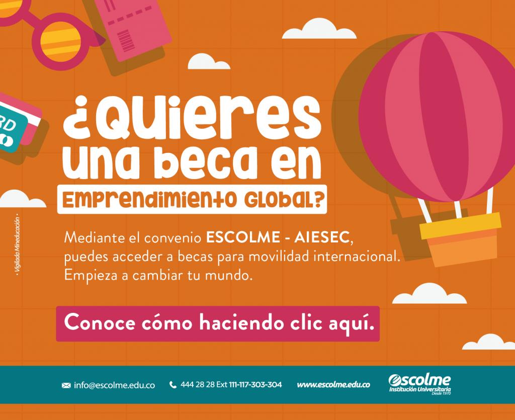 ¿Quieres una beca en emprendimiento global?