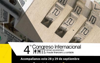 4to Congreso internacional Crimen económico y fraude financiero y contable