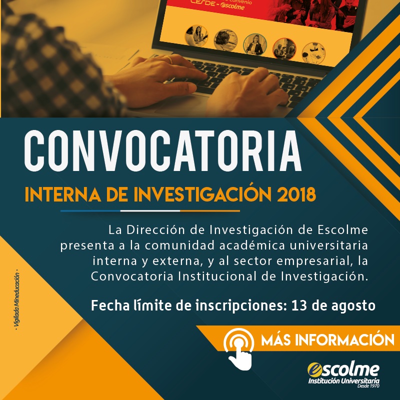Convocatoria interna de investigación 2018