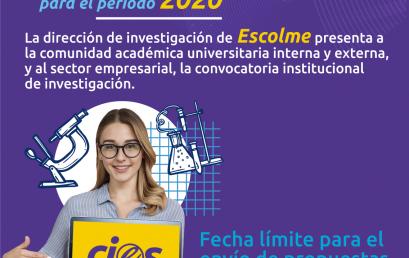 Convocatoria Interna de Investigación 2020