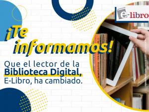 El lector de la biblioteca digital E-libro ha cambiado