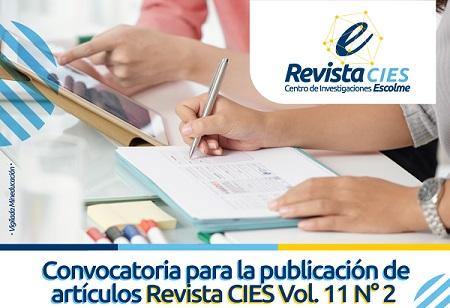 Convocatoria para la publicación de artículos Revista CIES Vol. 11 N° 2