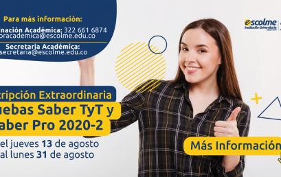 ¡Prepárate para presentar las Pruebas Saber TyT y PRO 2020 – 2!