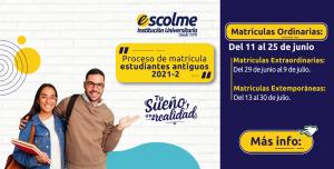 Matrículas Estudiantes Antiguos 2021-2