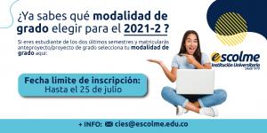 Modalidad de Grados 2021-2